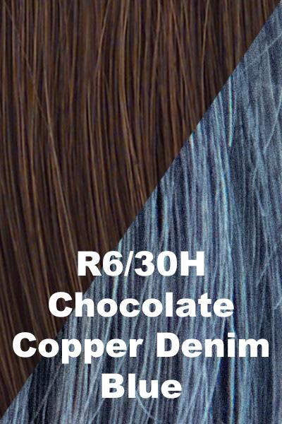 Hairdo Wigs Extensions - Color Splash Wrap (#HXCSWR) Scrunchie Hairdo by Hair U Wear Chocolate Copper (R6/30H)-Denim Blue