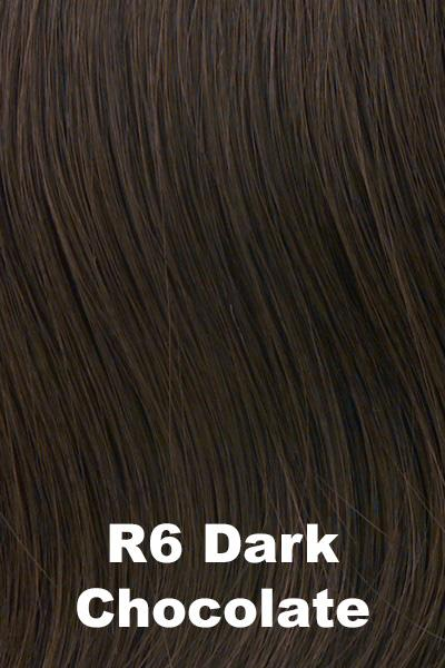 Hairdo Wigs Extensions - Fringe Top of Head (HXTPFR) Extension Hairdo by Hair U Wear Dark Chocolate (R6)