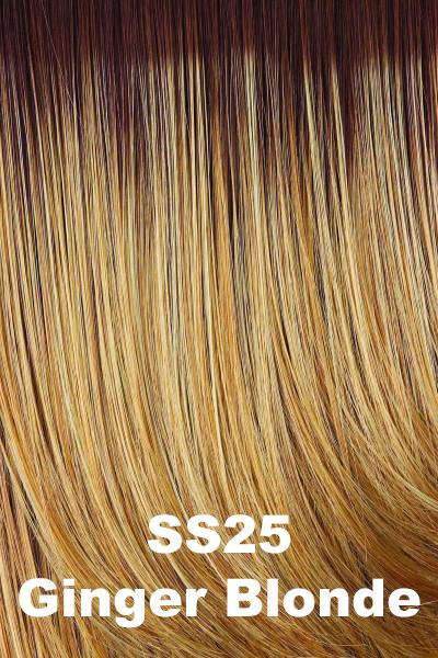 Hairdo Wigs Extensions - Fringe Top of Head (HXTPFR) Extension Hairdo by Hair U Wear SS Ginger Blonde (SS25)+ $5