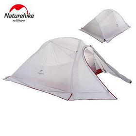 2.02 KG Naturehike Tent 3 Person 20D Silicone Fabric Double Layer Rainproof Outdoor Camping Tent With Snow Skirts Foot Print