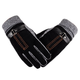 2016 Winter Warm Non-slip Mens Thicken Gloves Outdoor Mittens Driving Skiing Hiking Cycling Golf Hunting Gloves 2 Colors