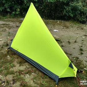 0.65KG 3F UL Gear Rodless Tent Ultralight 15D Silicone Single Person Camping Tent 1 Person 3 Season With Footprint 3Colors