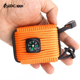 EDC.1991 New SOS Survival Outdoor Paracord Survival Kit Fire Starter fishing Emergency EDC Gear Travel Hiking Camping Adventurer