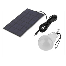 1Pc Outdoor Indoor LED Solar Energy Panel Light LED Solar Power Lamp Bulb 5-6 Hours Lighting for Travel Adventure Camping Garden