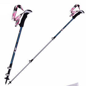 1Pair Nordic Walking Poles Walking Stick For Tourism Cane Trekking Poles Muletas Bastones Hiking Poles Aluminum Alloy Shooting