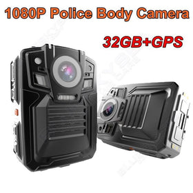 Free shipping!32GB Built-in GPS Police Body Worn Camera IR Night Camera 5~8 hours 140 1080P