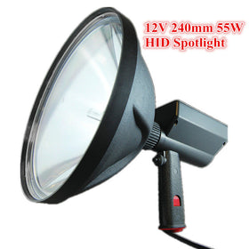 "12V 55W/75W HID 7000LM XENON 10"" Handheld 240mm Search Lamp Hunting Spotlight Fishing Camping Hiking lights Adventure OffRoad"