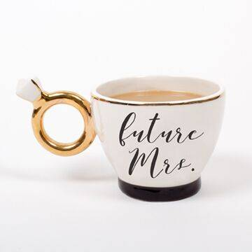 Engaged White Coffee Mug