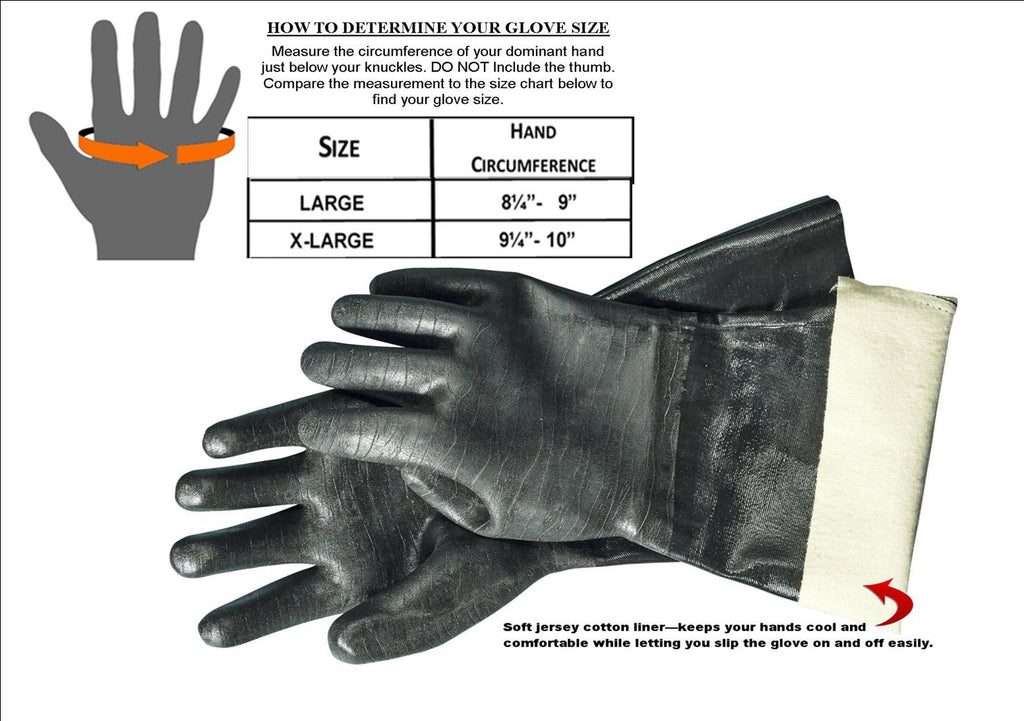 Artisan Griller BBQ heat resistant Insulated smoker/turkey frying/grilling/oven/cooking and barbecue gloves. -1 pair (13 Inch) Size 10/XL