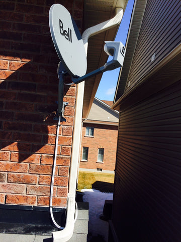 Bell satellite dish installed