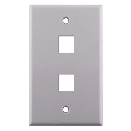 Single Gang 2-port Keystone Wall Plate