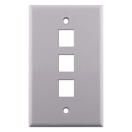 Single Gang 3-port Keystone Wall Plate