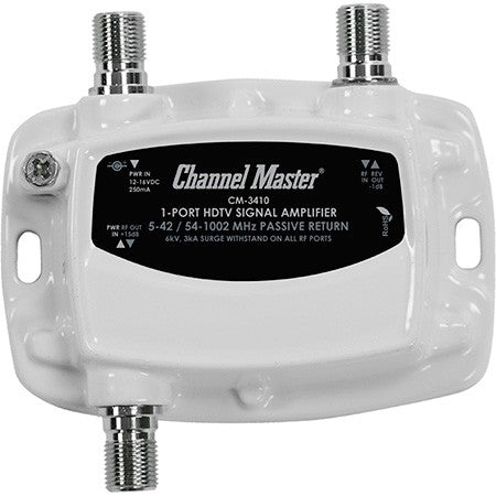 Channel Master CM3410 - Ultra Mini 1 Way 15dB Distribution Amplifier