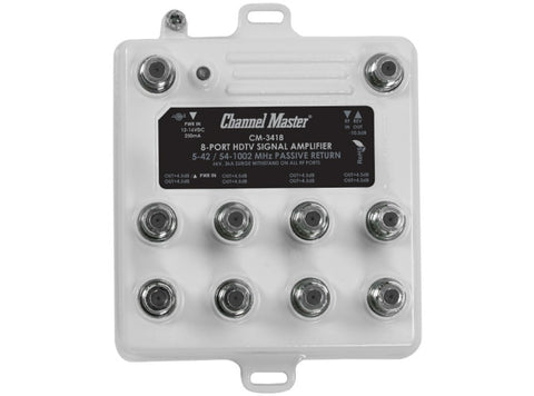 Channel Master CM3418 - Ultra Mini 8 Way distribution amp