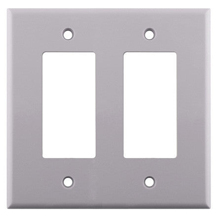 Decora Style Dual Gang Wall Plate