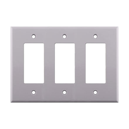 Decora Style Triple Gang Wall Plate