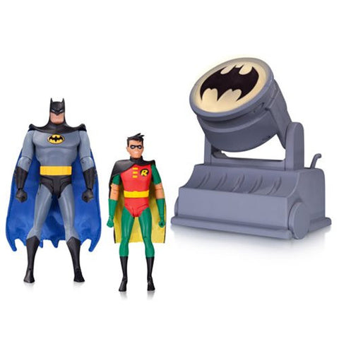 DC Collectibles Batman The Animated Series Batman and Robin with Bat-Signal