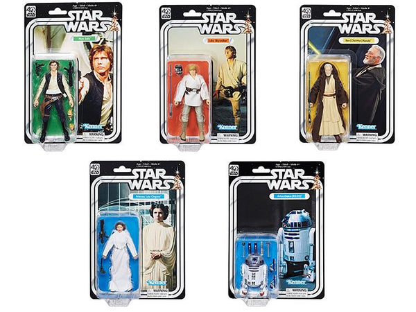 Star Wars The Black Series 40th Anniversary Set of 5 In Stock