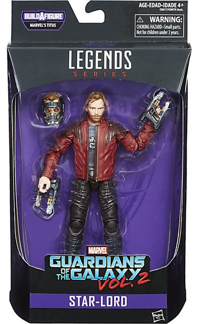 """Marvel Legends Guardians of the Galaxy Star-Lord 6/"""" Action Figure"""