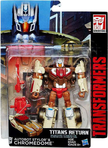 Autobot Stylor & Chromedome from Transformers Generations Titans Return Deluxe Class Wave 2