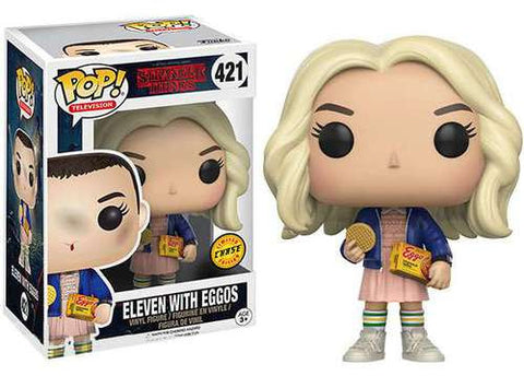 Stranger Things Funko POP! Television Eleven with Eggos [Limited Chase] Figure Vinyl Figure #421