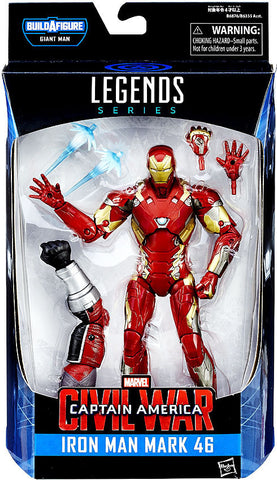 Marvel Legends Captain America Civil War Iron Man Mark 46 6-Inch Action Figure BAF Giant Man