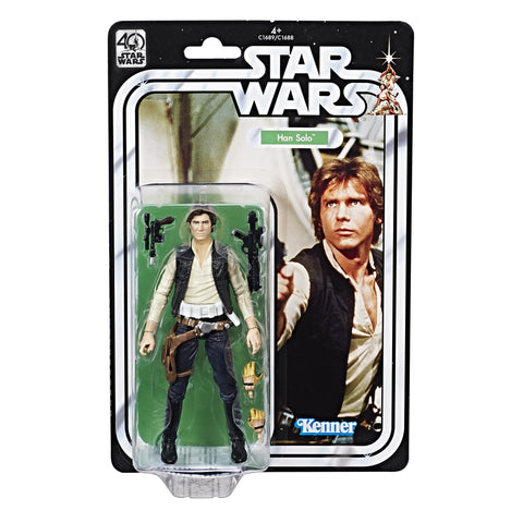 Star Wars The Black Series 40th Anniversary Han Solo In Stock