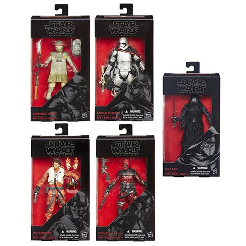 Star Wars The Force Awakens The Black Series 6 Inch Action Figures Wave 2 revision 1 Case
