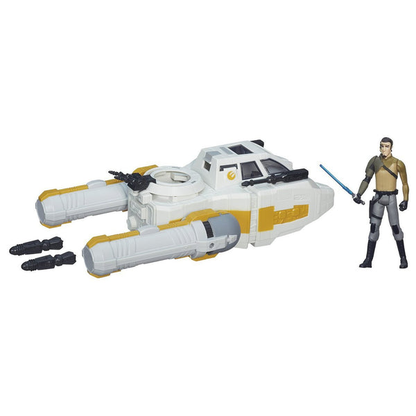 Star Wars Rebels Y-Wing Scout Bomber Vehicle with Kanan Jarrus Figure 3 3/4 Inch