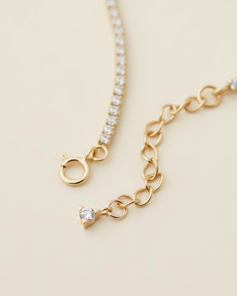 Paris Tennis Necklace - Gold