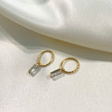 MINI BAGUETTE HOOPS - GOLD