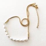 RELIC PEARL NECKLACE - GOLD