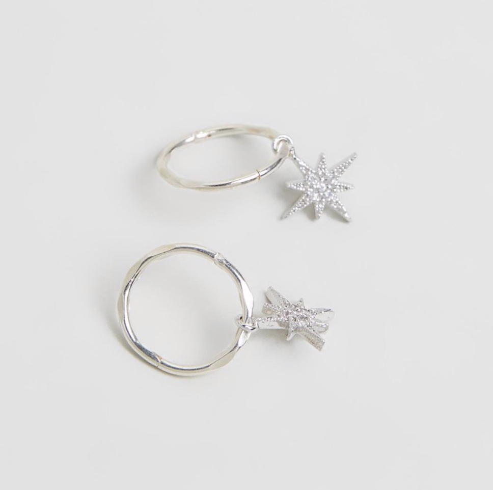 NORTH STAR MINI HOOPS - SILVER