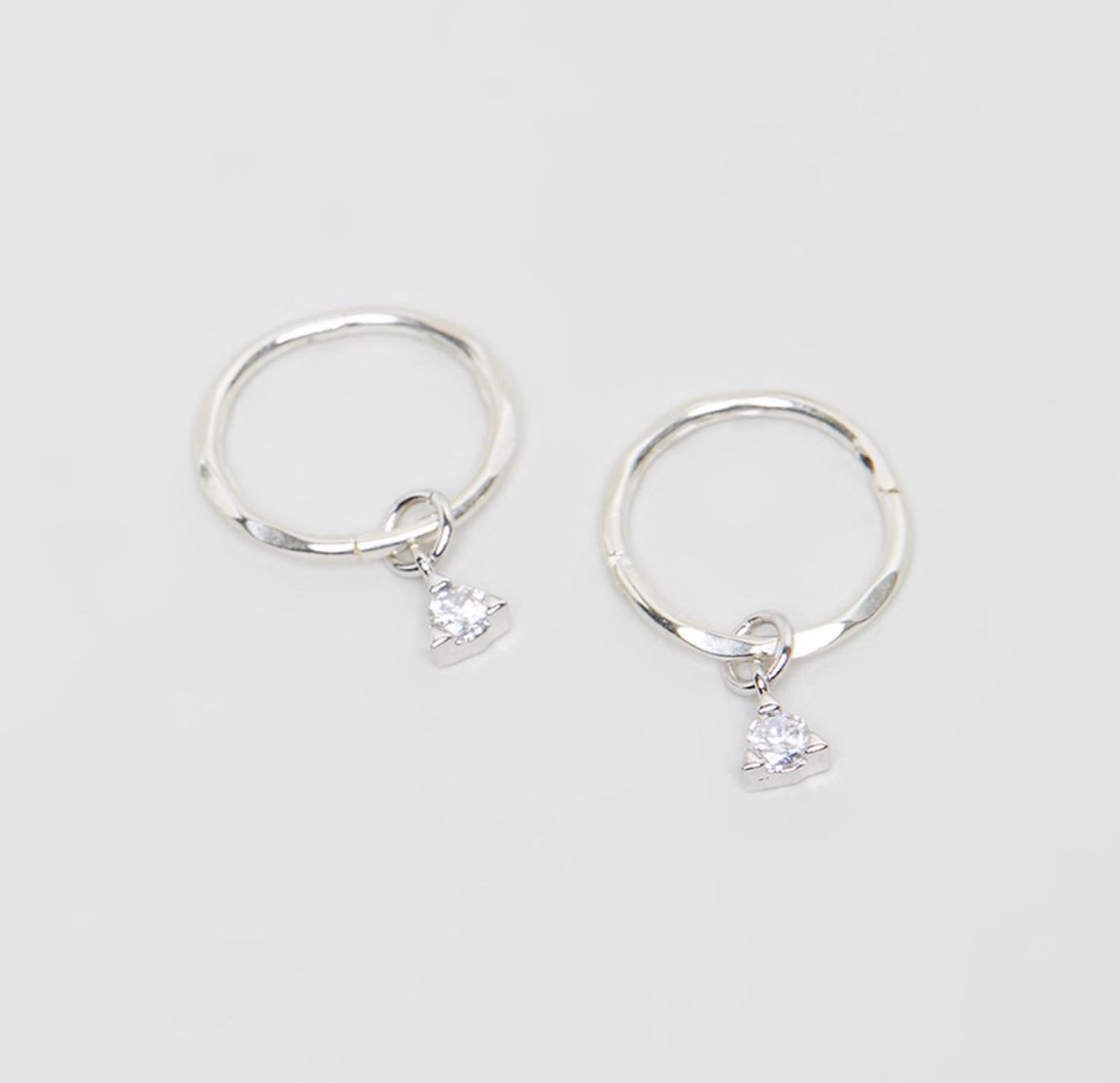 SAINT MINI HOOPS - SILVER