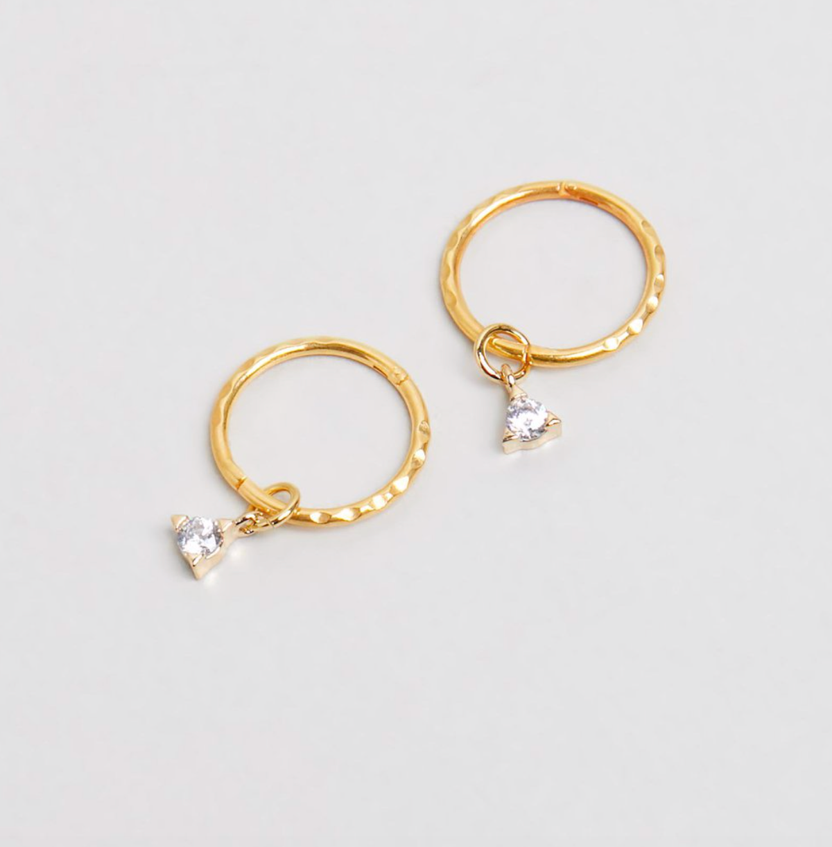SAINT MINI HOOPS - GOLD