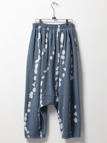 Kiko pants in reverse tie dye