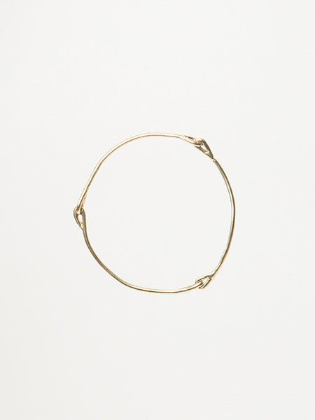 Knot Bangle in Gold - Founders & Followers - Ladyluna - 1