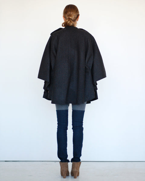 Pleated Cape in Black - Founders & Followers - Risto - 4