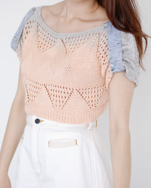 Crochet Cropped Sweater - Founders & Followers - Risto - 1