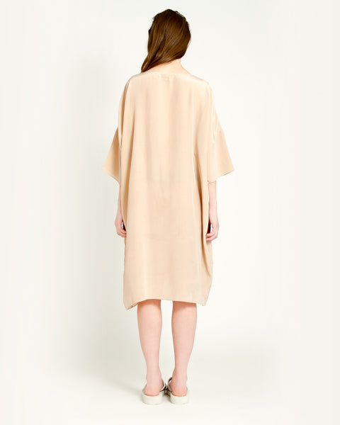 Knots Silk Dress in Taupe - Founders & Followers - Revisited Matters - 3