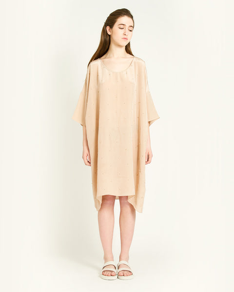 Knots Silk Dress in Taupe - Founders & Followers - Revisited Matters - 1