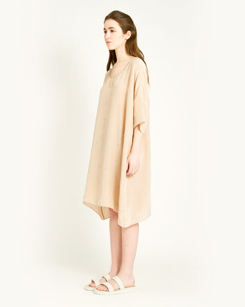 Knots Silk Dress in Taupe - Founders & Followers - Revisited Matters - 2