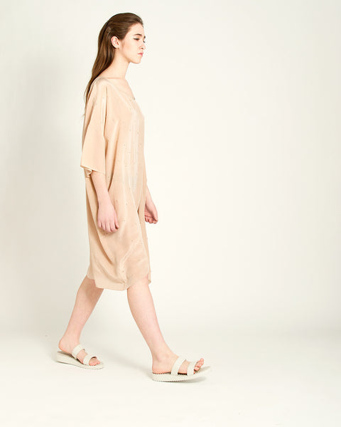 Knots Silk Dress in Taupe - Founders & Followers - Revisited Matters - 4
