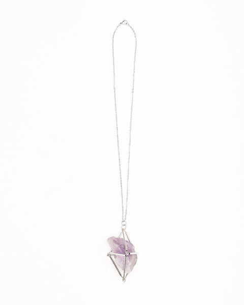 Brazilian Amethyst Cage Necklace - Founders & Followers - Casa del Mano - 2