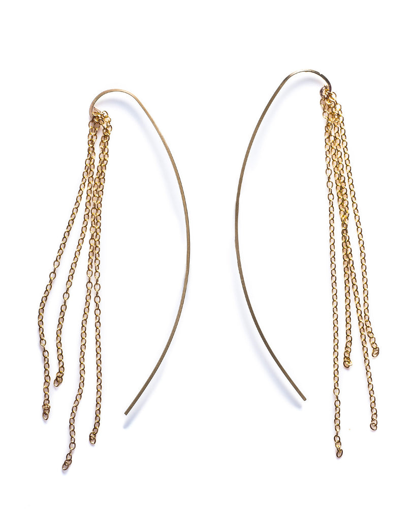 Fringe Threader Earrings - Founders & Followers - By Boe