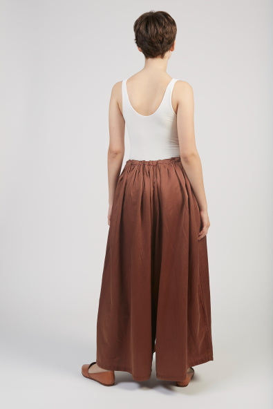 Silk cotton pants in maroon