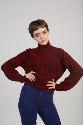 Himalaya sweater in burgundy