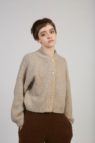 Alpaca Box bomber in oatmeal