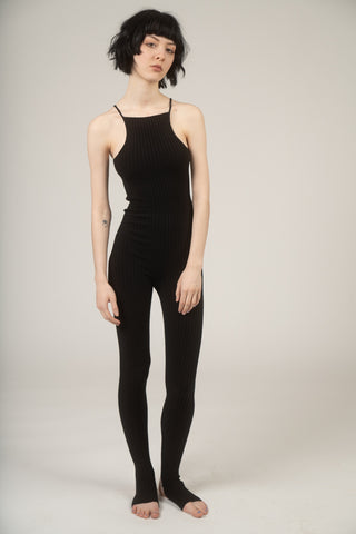 Nonna knit unitard in black