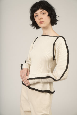 Nova sweater in Ivory & black